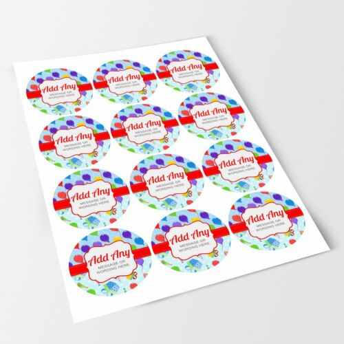 Balloon Party Balloons V7 Sticker Labels for Party Bag Sweet Cones