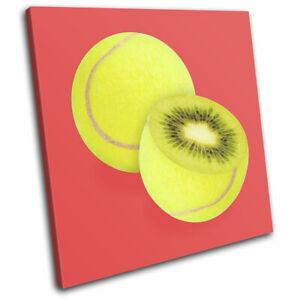 Tennis-Ball-Kiwi-Fruit-Food-Kitchen-SINGLE-CANVAS-WALL-ART-Picture-Print