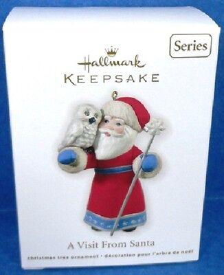 2011 A Visit From Santa Hallmark Retired Series Ornament
