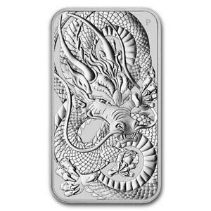 2021 Silver 1 Oz. Silver Rectangular Dragon Coin BU Australian Perth Mint