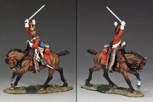 Roi et pays officier britannique napoléonien chargeant Na259