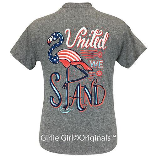 Girlie Girl Originals Tees United We Stand Graphite Heather Short Sleeve T-Shirt - 22
