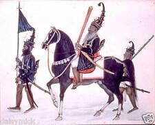 Sikh akalis Guerrieri MARCIA CAVALLERIA CAVALLO SPADA India 6x5 pollici stampa
