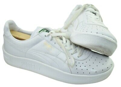 puma mens gv special white leather shoes size 9 almost