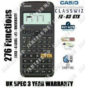 Details About Casio Fx 83 Gt X Scientific Calculator 276 Functions Black 10 Joblot