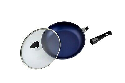 Origineel Frying Pan With Quicksnap Detachable Handle And Tempered Glass Lid