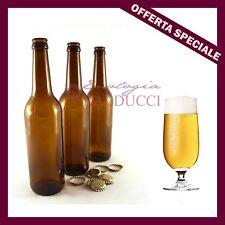 "n°24 Bottiglie BIRRA ""FANES"" pesante 0,52 L kit birra malto tappo corona diam.26"