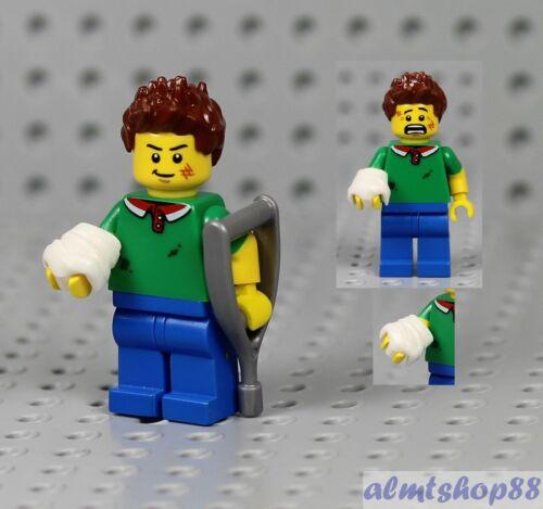 Boy Male Minifigure w// Cast /& Crutch Accident Injured Guy Hospital LEGO