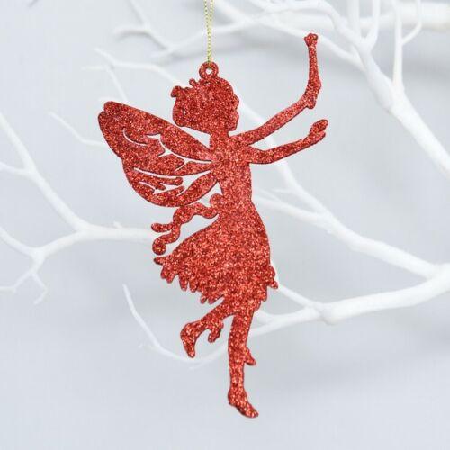 10Pcs Glitter Fairy Christmas Tree Decoration Xmas Party Hanging Ornament Decor