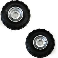 2x 19x7-8 19/7-8 Inch Tyre + 18x9.5-8 4pr Lawer Golf Cart Turf Tire Wheel Rim