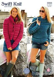 f58c4ed5e Image is loading Stylecraft-9068-Knitting-Pattern-Ladies-Jacket-amp-Jumper-