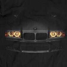 BMW E36 320i T-Shirt Scheinwerfer Glow schwarzes Engel Eyes