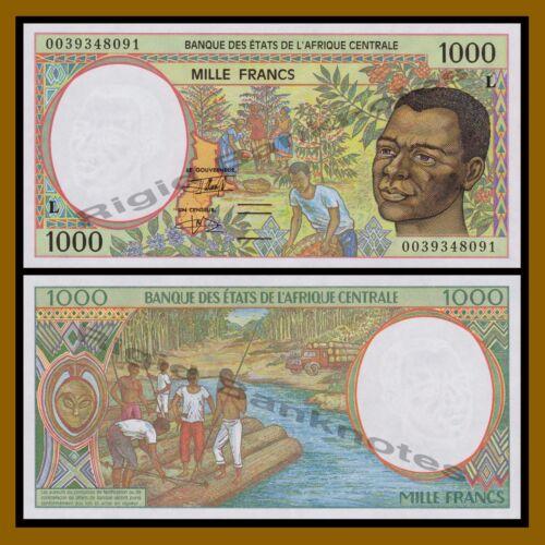 2000 P-404Lg Unc Gabon 1000 Francs Central African States