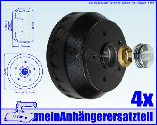 4x Knott Bremstrommel 25964C02 200x50mm Radbremse 20-2425//1 inkl Zubeh