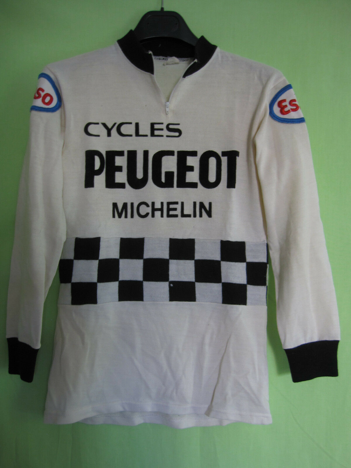 Maillot Cycliste Peugeot Cycles Esso Acrylique  70'S vintage Michelin - S  buy best
