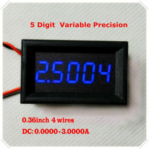 Digital Ammeter 5-digits bit Precision High Current Meter DC 0-3.0000A 0-3A