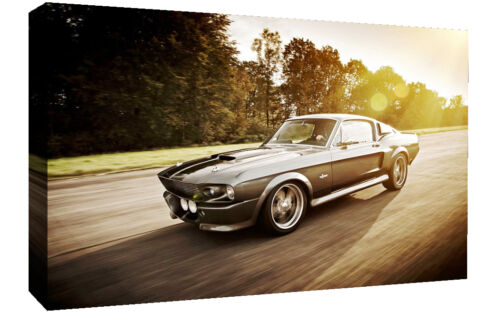 Various Sizes Mustang Shelby Eleanor Classic Car Canvas Wall Art Picture Print
