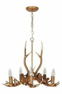 Next antler ceiling light