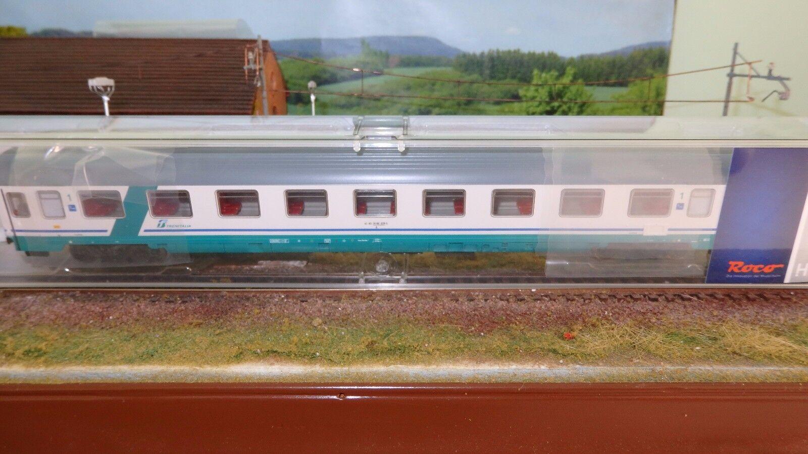 ROCO 64082B Eurofima 1a cl., livrea XMPR fascia verde obliqua,logo FS Trenitalia