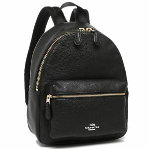 a517a2321b1c Coach F38263 Mini Charlie Backpack in Pebble Leather Black for sale ...