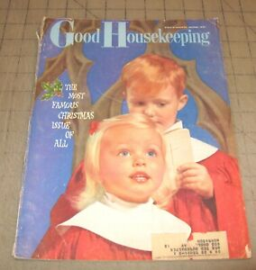 GOOD HOUSEKEEPING (December 1958) Fair Condition Magazine - Christmas Issue