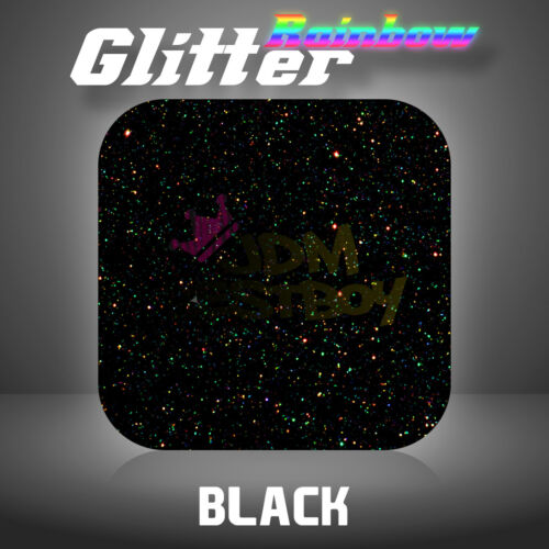 "Black Rainbow Glitter Heat Transfer Vinyl HTV TShirt 20/"" Wide Iron On Heat Press"