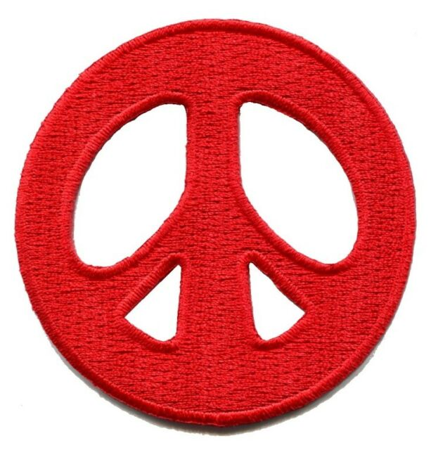 Peace sign hippie retro boho flower power weed love applique iron-on patch S-579