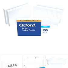 Oxford 51ee Ruled Index Cards 5 X 8 White 500 Cards 5 Packs Of 100 51
