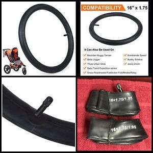 "NEW 2Pc 16"" Stroller Inner Tube 16x1.75-1.95 Rubber Tire ..."