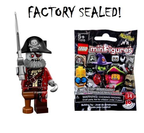 New Lego Series 14 Zombie Pirate minifigure Factory Sealed!