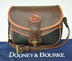Rare-VTG-Dooney-amp-Bourke-Teton-tri-colored-leather-AWL-Shoulder-Bag-cross-body