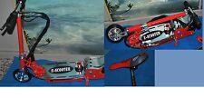 scooter 120 w elettrico monopattino metallico pieghevole sellino estraibile