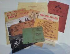 11 Blitz Leaflets / Postcards The Blitz World War II 1939-1945 Home Front