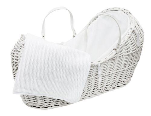 WHITE Pod Seggiolino Con Bianco Waffle da toeletta