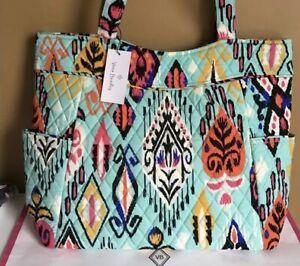 NWT-Vera-Bradley-Pleated-Tote-Shoulder-Handbag-in-034-PUEBLO-034