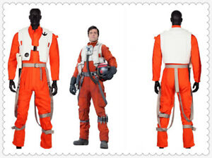 Poe Dameron Costume Jumpsuit Star Wars VII Movie Cosplay Outfit for Halloween#87