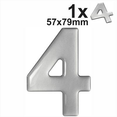 Gel Domed Self Adhesive Number Plate Digit /'1/' Choice of Finish
