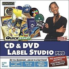 Quickstart CD & DVD Label Studio Pro - NEW FACTORY SEALED SOFTWARE