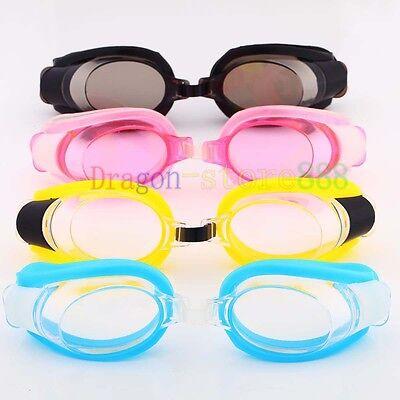 Nose Clip+Ear Plug + Anti fog UV Swimming Swim Goggle Adjustable Glasses Eyewear