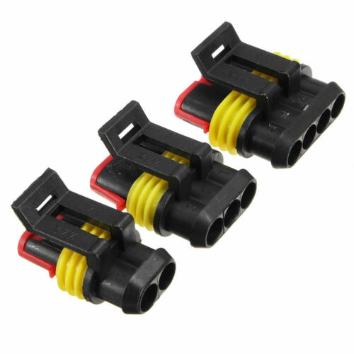 15* Motorcycles Car Electrical 300V 12A 2//3//4// Pin Wire Connectors Terminal Kits