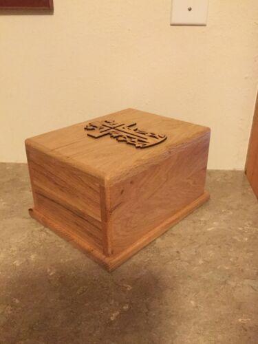 Oak Wood Cremation Urn Adult