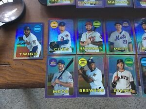 2018-TOPPS-HERITAGE-CHROME-PURPLE-REFRACTOR-Lot-17-NO-Dups