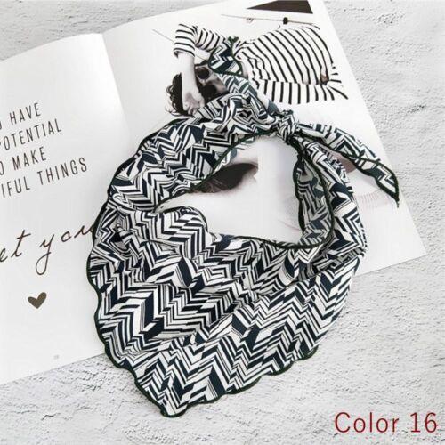 satin neckwear chic haarband band kleines dreieck gefühl halstuch seide