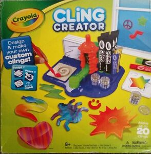 New Crayola Cling Creator Make 20 Customized Gel Clings For Windows