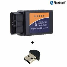 ELM327 Bluetooth OBD2 Scanner Code Reader v1.5 + Bluetooth USB Receiver Dongle