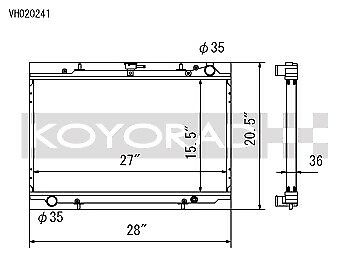 Koyo Racing Aluminum Radiator for 1990-1996 Nissan 300ZX Non-Turbo M//T