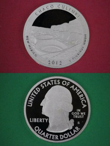 Silver 2012-S Chaco Culture Proof Deep Cameo Parks Quarter Combined Shipping
