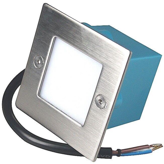 LED Stufenleuchten Leon 230Volt Wandstrahler IP54 - Edelstahl Blende - 1,5Watt | Verschiedene Arten und Stile  | Sale Online  | Outlet Online Store