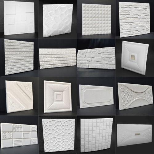 PE Foam 3D DIY Wall Stickers Room Home Decor White Brick Stone Wall Home Poster
