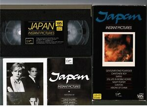 JAPAN-Instant-Pictures-David-Sylvian-JAPAN-VHS-VIDEO-VTM-21-1984-issue-Slip-Case